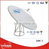 2.4m Flat panel big satellite dish antenna