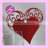 2016 love heart place card holder table wedding decoration JK44