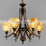 Noble led brass hotel lobby new decorative modern glass chandeliers                                                                         Quality Choice