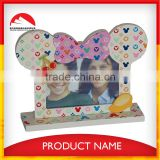 Hot Sell Cartoon Eco-friendly Wooden Funny Photo Frame with box