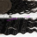 Natural Wave Malaysian Hair Bouncy Curl Weaving Closures Water Curly