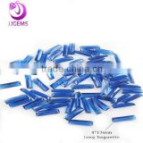synthetic baguette sapphire decorative glass gems diamond