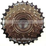 Multiple freewheel sprocket for 6-speed