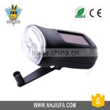 JF 3 LED Hand cranking Power Rchargeable Solar Power Flashlight ,led manual rechargeable hand crank dynamo led flashlight