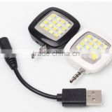 Fos ios and android Universal Mini 16 LED Camera Flash Selfie Fill Light Selfie Night Photo