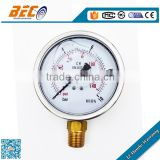inclined single column manometer oil filled pressure gauge