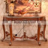 Antique Solid Wood Console Table Painting Finished Baroque Style Hallway Console Tables