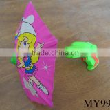 cartoon pattern kids water gun funny umbrellas