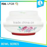 FDA & LFGB cheap ceramic silicone mini soup bowl