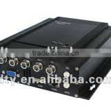 4 channels full D1 vehicle DVR support HDD and 32GB SD Card, very easy to set up by USD mouse