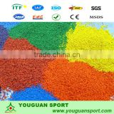 EPDM Granules Rubber Track Surfaces Sport Stadium athletic flooring surface Rubber running track by handwork