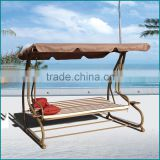 Outdoor patio antique metal swing with canopy JJ-519                                                                         Quality Choice