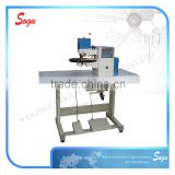 Computer control folding sewing machine in shoe uperr making,leather edge folding machine,folding glue machine for shoes