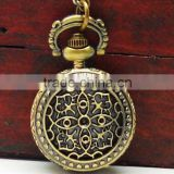 Vintage design hollow design pocket watch,promotional gift