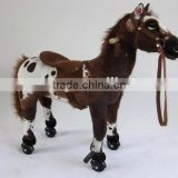China factory ride on pony toy horse toy plush toy for children                                                                                                         Supplier's Choice
