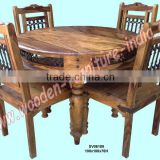 round dining table set,sheesham wood furniture,jali furniture