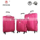 Light weight high-capacity with expandable set of 3 pcs polyester beautiful trolley luggage set