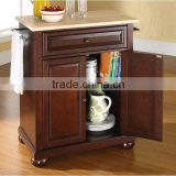 Solid hardwood Top Kitchen Cart,kitchen island