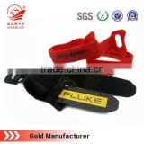 high quality back to back hook and loop ties adjustable magic tape cable tie with pritned logo