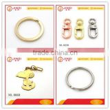 Strong wire blank metal key ring clasps