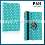 Hot sale fashionable Polka Dot Tablet Leather Case For Apple iPad2 3 4