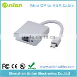 Factory Price Thunderbolt Mini Display Port DP to VGA Cable Adapter