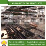 high efficient selective blue titanium absorber solar evacuated tubes for sale