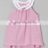 Fast shipping new design shirts 2015 smocked children clothing wholesale girls top round neck plus size childrens clothing
