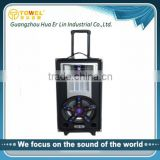 2.0 audio karaoke plaer home theater wooden peaker box professional active stage speaker