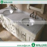 Prefab low price G603 granite vanity top / one piece bathroom sink and countertop