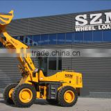 chinese 3t construction machine wheel loader with pallet fork,snow blader for sale