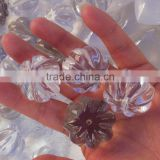 small natural rock very clear crystal pumpkin shape transparent quartz stone pendant for gift