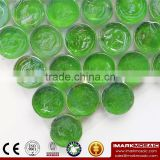 IMARK Penny Round shape Green Iridescent Glass Mosaic Swimming Pool Tile