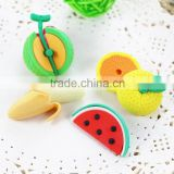 Promotion 3D fruit shaped eraser