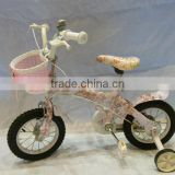 popular chinese inner sticker children bike with training wheels steel frame natural rubber air tire