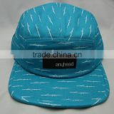 Guangzhou Cap Factory 5 Panel Camper Cap 100% Cotton Twill Fabric Silkscreen Print Logos Nylon Strap With Plastic Buckle