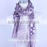 high quality fashion winter ladies printed wool/cashmere/silk blended scarf poncho stole with tassel winter accessories