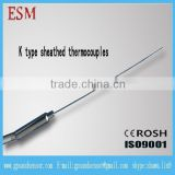 Flexible Sheathed Thermocouple K type Temperature Sensor With probe diameter 1/1.5 /2 /3 /4 /6mm probe length 100/200/300mm