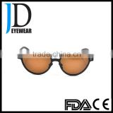 new product brown lenses polarized carbon fiber sunglasses for driver