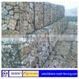 electro galvanized rock filled gabion box/PVC coated gabion cage/Professional gabion box price