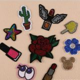 New Style Customized Colorful applique flower sequins