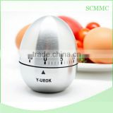 High quality stainless steel egg shape kitchen timer