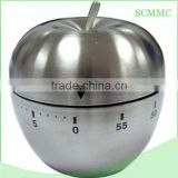 Low price custom wholesale stainles steel apple kitchen timer
