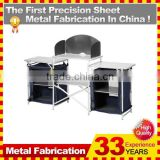 Stainless Steel Portable Foldable Folding dining Desk Grill Table Camping Outdoor Picnic Aluminium Alloy With Carry Case