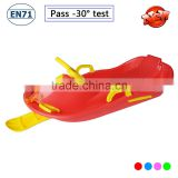 extreme racer snow sled with brake, backrest Steering wheel pull snow sledge car kids sled towable snow sleds