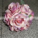 Bouquet Pink Artificial Rose Flower/decorative flowers