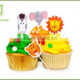 Food Grade Cake Decoration Colorful Toppers Fireworks Party Picks