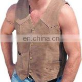 Leather Vests Art No: 1114