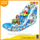 2015 AOQI newest design cheap price Arctic ocean outdoor inflatable pool water slide for kids