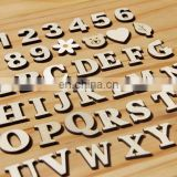 MDF letters wood bead crafts wooden letters number Photo Props wooden letter and number set